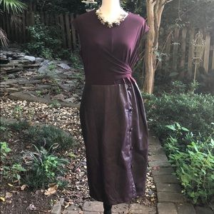 New York and Co faux leather dress